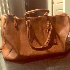 Sole Society Lacie Faux Leather Duffle Bag